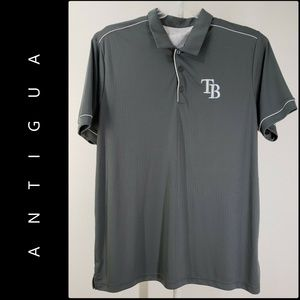 Antigua Men Tampa Bay Polo Shirt Size 2XL Gray